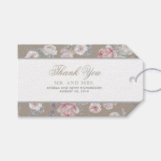 Etiqueta Para Presente Casamento elegante floral do vintage