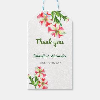 Etiqueta Para Presente Casamento floral da arte dos petúnias brancos