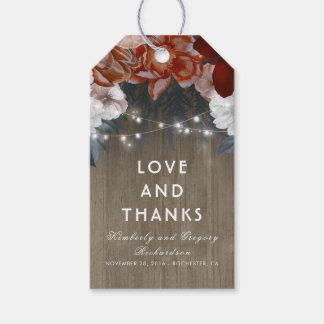 Etiqueta Para Presente Casamento floral rústico do celeiro da ameixa e da