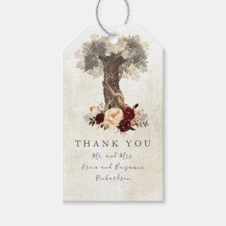 Etiqueta Para Presente Casamento rústico floral da árvore de amor