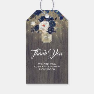 Etiqueta Para Presente Casamento rústico floral do frasco de pedreiro do