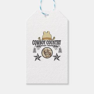 Etiqueta Para Presente cavaleiro do país do vaqueiro
