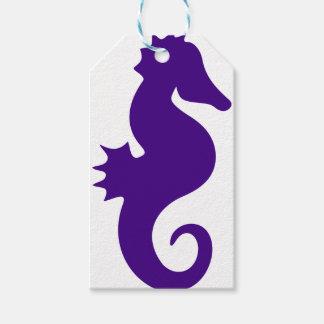 Etiqueta Para Presente Cavalo marinho roxo