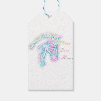 Etiqueta Para Presente Cavalos do amor da paz