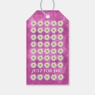 Etiqueta Para Presente Celebração floral cor-de-rosa feminino