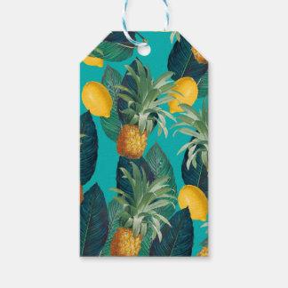 Etiqueta Para Presente cerceta do pineaple e dos limões