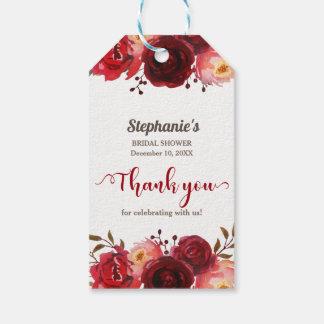 Etiqueta Para Presente Chá de panela floral das rosas vermelhas de