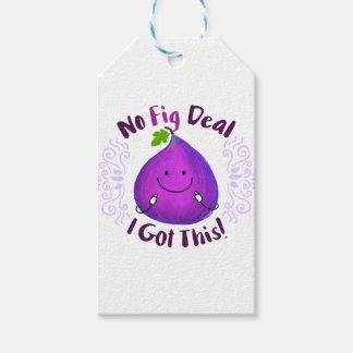 Etiqueta Para Presente Chalaça positiva do figo - nenhum negócio do figo