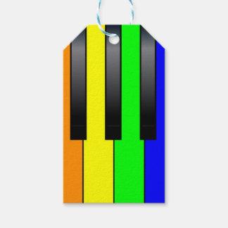 Etiqueta Para Presente Chaves alegres do piano do transporte