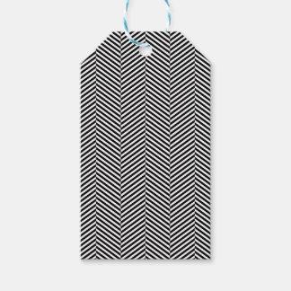 Etiqueta Para Presente Chevron branco preto fino moderno listra o teste