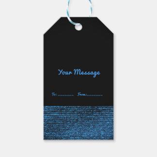 Etiqueta Para Presente Chique elegante dos Sequins Glam modernos azuis &