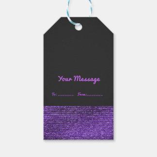 Etiqueta Para Presente Chique elegante dos Sequins Glam modernos roxos &