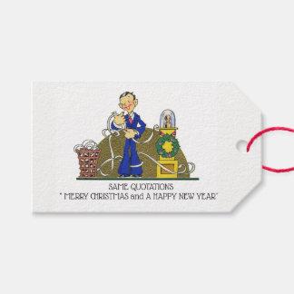 Etiqueta Para Presente Citações do feriado do humor do contador do natal