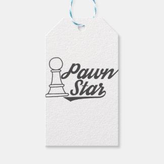 Etiqueta Para Presente clube de xadrez da estrela do penhor