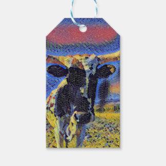 Etiqueta Para Presente Coleção do papel de embrulho do mosaico do gado de