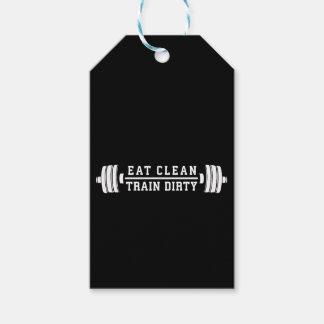 Etiqueta Para Presente Coma limpo, trem sujo - exercício inspirado