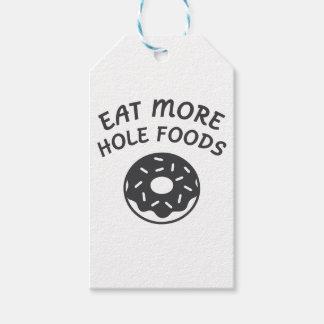 Etiqueta Para Presente Coma mais alimentos do furo