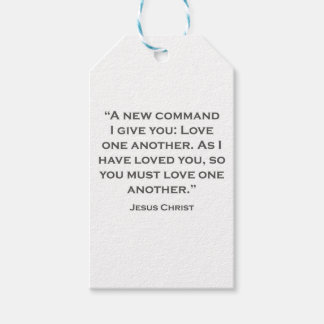Etiqueta Para Presente Comando novo de JESUS 03 A das CITAÇÕES eu dou-o