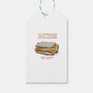 Etiqueta Para Presente Comida do homem de Tony Fernandes - sanduíche do
