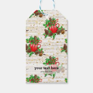 Etiqueta Para Presente Cones do pinho do Natal