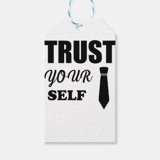 Etiqueta Para Presente confiança