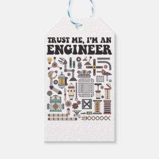 Etiqueta Para Presente Confie-me, mim são um engenheiro