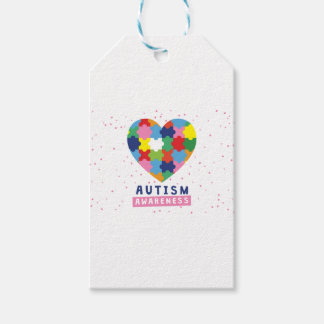 Etiqueta Para Presente consciência cor-de-rosa do autismo