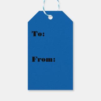 Etiqueta Para Presente Cor azul vivamente impressionante