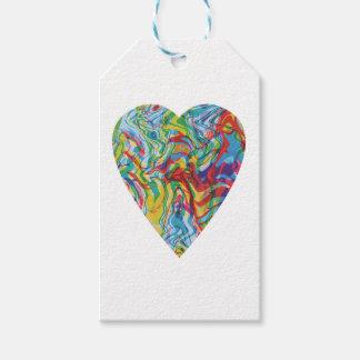 Etiqueta Para Presente Coração #2 da arte do pulso aleatório