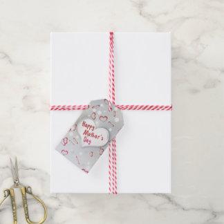 Etiqueta Para Presente Coração de papel dobrado dia das mães - Tag do