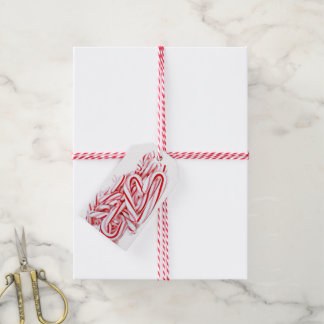 Etiqueta Para Presente Coração do bastão de doces do Natal