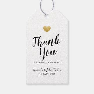 Etiqueta Para Presente Coração do obrigado do ouro você favorece o Tag