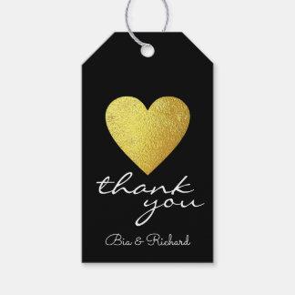 Etiqueta Para Presente coração do ouro do falso do amor, obrigado