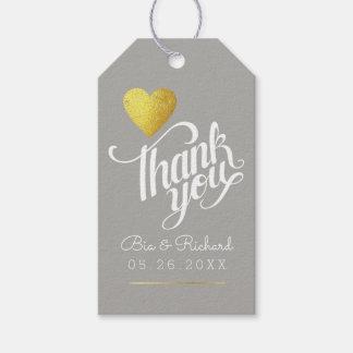 Etiqueta Para Presente coração do ouro do falso do amor, obrigado que as