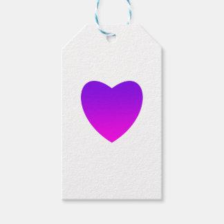Etiqueta Para Presente Coração roxo/cor-de-rosa
