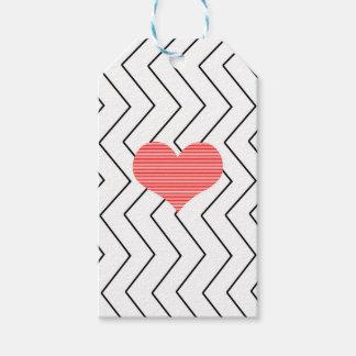 Etiqueta Para Presente Coração vermelho - teste padrão geométrico do