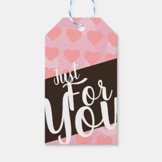 """Etiqueta Para Presente Corações cor-de-rosa """"apenas para você"""" Tag do"""