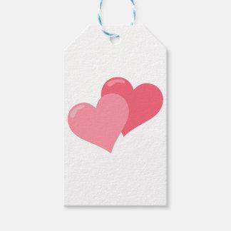 Etiqueta Para Presente Corações cor-de-rosa gêmeos
