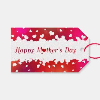 Etiqueta Para Presente Corações felizes bonitos do dia das mães - Tag do