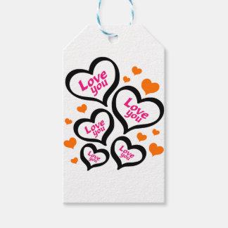 Etiqueta Para Presente corações legal do amor
