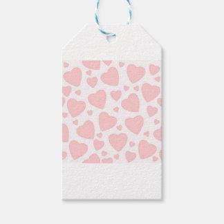 Etiqueta Para Presente Corações rosas pálido