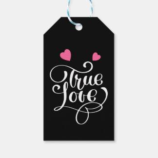 Etiqueta Para Presente Corações verdadeiros pretos do rosa do amor que