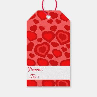 Etiqueta Para Presente Corações vermelhos