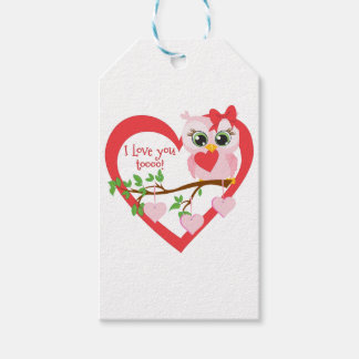 Etiqueta Para Presente Coruja bonito do amor