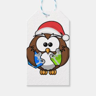 Etiqueta Para Presente Coruja do Natal