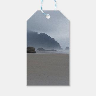 Etiqueta Para Presente Costa de Oregon do ponto do abraço em um dia