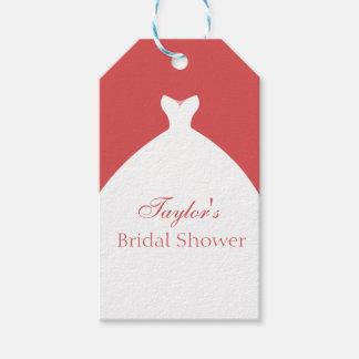 Etiqueta Para Presente Costume bonito do vestido de casamento