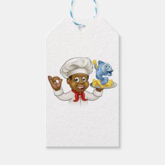 Etiqueta Para Presente Cozinheiro chefe do peixe com batatas fritas dos