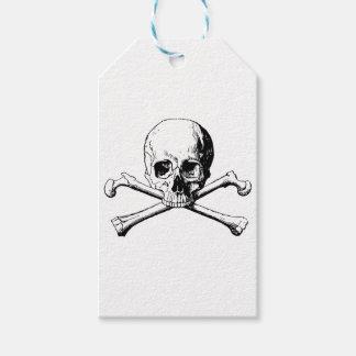 Etiqueta Para Presente Crânio dos Crossbones