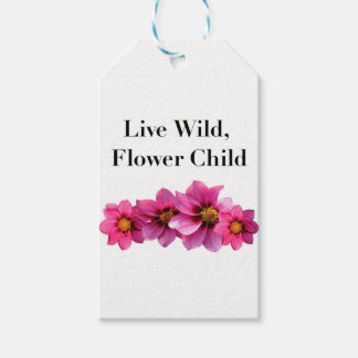 Etiqueta Para Presente Criança de flor selvagem viva
